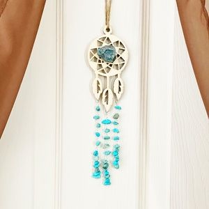 Dreamcatcher hanging with turquoise accents